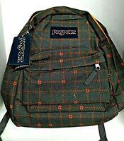 NEW JanSport SUPERBREAK SHADY GREY STITCH PLAID BackPack Book Bag