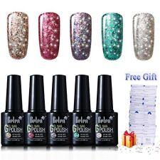 Belen 5 Colours Gel Nail Polish Set Soak Off UV LED Glitter Bling Xmas 10ML 04