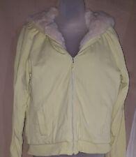 GAP Light Lime Faux Fur Lined Jacket Large