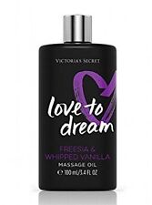 Victoria's Secret Love To Dream Freesia & Whipped Vanilla Massage Oil Rare Htf