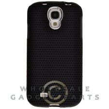 Samsung Galaxy S4 Hybrid Mesh Case Chrome Black Cover Shell Protector Guard Skin