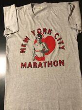Vintage 80s New York City Marathon Screen Stars T-Shirt Running Jogging USA