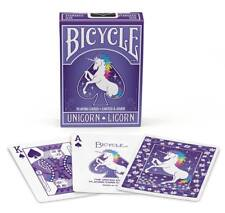 Unicorn Bicycle Playing Cards Poker Size Deck USPCC Custom Limited Edition New
