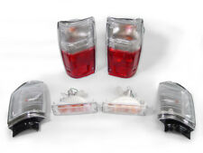 1987-1988 TOYOTA PICKUP 2WD RED/CLEAR TAIL LIGHTS + CLEAR CORNER + BUMPER LIGHTS