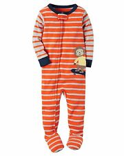 Carter's Baby Boys' Footed Cotton Pajamas Striped Monkey 18M