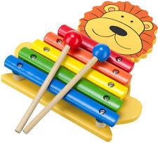 ARANCIONE Tree Giocattoli LION Xylophone Baby / Bambino / Bambini Giocattoli di legno musica NUOVO CON CONFEZIONE