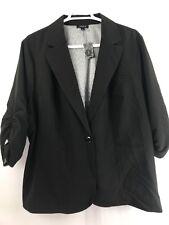 0e28c244a7fd4 NWT Torrid Women s One Button Pullover Blazer  Jacket Solid Black Sz 5