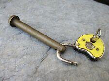 Vintage Kit Brass Lock & Germany Padlock Burg Close Old Militar Bag With Eyelets