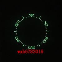 38mm black blue ceramic Luminous bezel insert for RLX SUB parnis mens watch