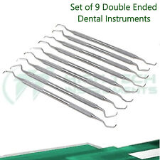 German Stainless 9 Piece Gracey Curette Set Medical Dental Surgical Instrument