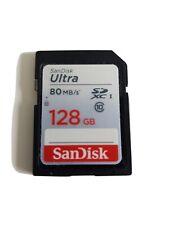 SanDisk Ultra SDXC Class 10, U1 Memory Card 128 GB - Black/Grey