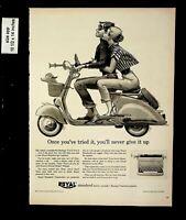 1956 Royal Standard Typewriter Vespa Vintage Print Ad 9617