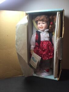 NEW MILESTONE LIMITED EDITION PORCELAIN DOLL NAMED BONNIE With Coa