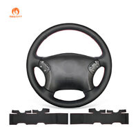 DIY Black Leather Steering Wheel Cover for Mercedes Benz W203 C-Class 2001-2007
