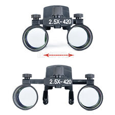 UK Site Dental Dentist Clip on Loupes Surgical Binocular Magnifier Loupes 2.5X