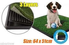 Indoor Pet Puppy Dog Toilet Training Restroom Bathroom Loo Grass Mat Tray