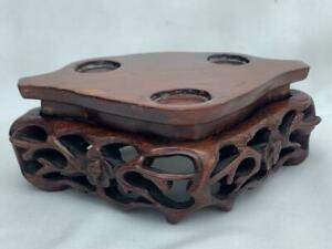 Superb Antique Chinese Hand Carved Hardwood Stand.