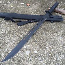 "27"" Black Ninja Hunting Machete TANTO Sword with Sheath K-1020-30P-BK -M"