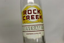 Rock Creek Beverages Soda Bottle, Washington, D.C. 1961