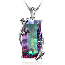 New Sell Mystic Topaz 925 Sterling Silver  Women Jewelry Gemstone Pendant SP019