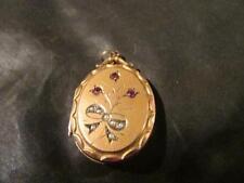 9 Carat Garnet Pendant/Locket Art Nouveau Fine Jewellery