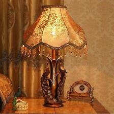 Special Peacock Carved Arts Table Lamp Resin Light For Study Room Bedroom