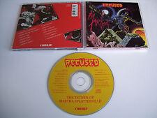 THE ACCUSED Return of Martha Splatterhead CD 1986 MEGA RARE 1st PRESS COMBAT!!!!