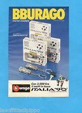 TOP989-PUBBLICITA'/ADVERTISING-1989- BURAGO ITALIA '90- PORTACHIAVI F40