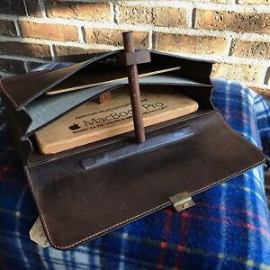 RARE CLEAN VINTAGE 1980s BROWN SADDLE LEATHER MACBOOK PRO BRIEFCASE BAG R$1198