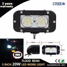 5 Inch 20W CREE LED Work Light Bar Flood 4x4 LED Offroad Drive Fog Lamp SUV ATV