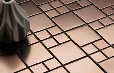 Brushed Copper Effect Stainless Steel Mosaic Tiles (GTR10174)