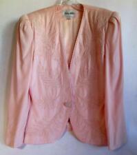 Pretty Embellished NOLAN MILLER Pink Blazer Size 12 Suit Jacket