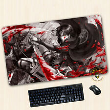 Oversize Anime Levi Attack on Titan Mouse Pad Play mat GAME mat Mousepad 70*40CM