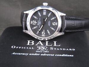 VINTAGE BALL NM1023C 7J 100M STAINLESS STEEL SWISS DATE QUARTZ MENS WATCH W/ BOX