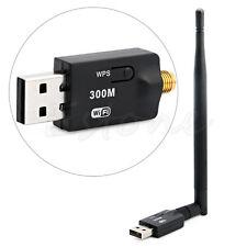 300Mbps USB Wireless Wifi Adapter Dongle LAN 802.11n/g/b Internet Network HOT