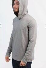 "Hugo Boss Black Label Hooded Grey Long Sleeve Shirt Size Medium Pit To Pit 20"","