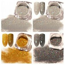 3Boxes Nail Glitter Powder Holographic Dust Nail Art Manicure Laser Pigment DIY