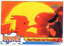 POKEMON English BLUE TOPPS LOGO Card # 59 PIKACHU & SNUBBULL + MARILL