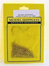 "Model Shipways Fittings MS 0429B Jackstay Eyebolts 1/32"" (.75mm) 500 Per PK"