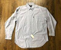 NWT Ralph Lauren Blaire Men's Long Sleeve Button Front Shirt Size Large
