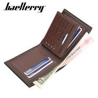Baellerry Mens Short Wallet Multi-ID Card Holder  Crocodile Soft Leather Purse