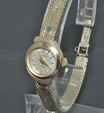 9ct gold ladies vintage Accurist bracelet watch box & papers 1956