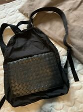 Bottega Veneta Travel Backpack Leather Nylon New With Dust Bag Unwanted Present