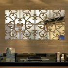 32pcs Mirror Floral Removable Acrylic Decal Art Mural Wall Sticker Home Decor