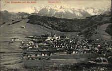 Einsiedeln Kanton Schwyz Schweiz alte s/w AK 1912 gelaufen Blick gegen die Alpen