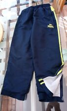 7 - 8 Years Sports Lonsdale Jog Bottoms Navy Blue & Lime