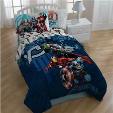 AVENGERS 4p TWIN COMFORTER SHEETS Bed SET Iron Man Capt America Hulk Thor Single