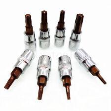 """8pc Torx Bit Socket Set 1/4"""" Square Drive Adapter T8 T10 T15 T20 T25 T27 T30 T40"""