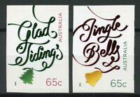 Australia 2018 MNH Xmas Christmas Jingle Bells Trees 2v S/A Foil Set Stamps