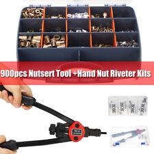 New listing Us 900Pcs Nutsert Tool Kit M3-M8 Stainless Steel Hand Riveter Rivnut Nut
